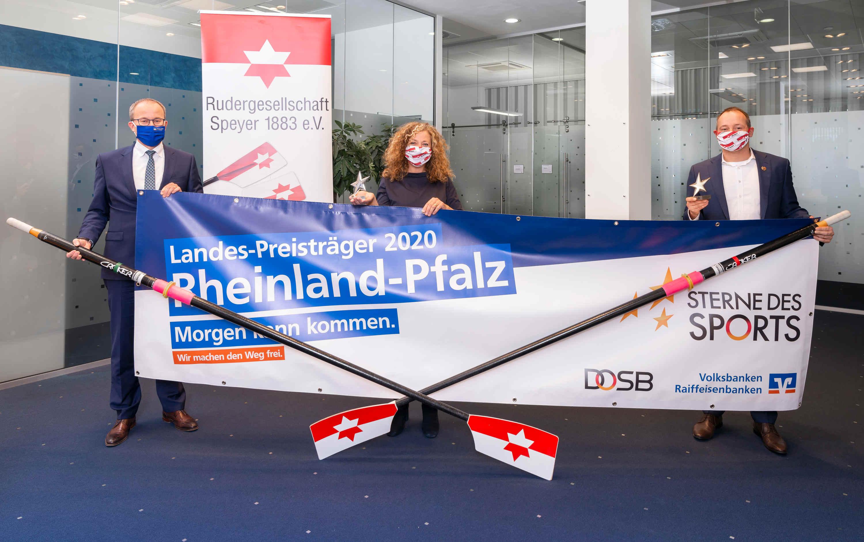 Virtuelle Vertreterversammlung der Vereinigten VR Bank Kur- und Rheinpfalz (v. l. n. r.): Dr. Hans Spielmann (Aufsichtsrat), Rudolf Müller (Vorstandssprecher), Dirk Borgartz (stellv. Vorstandssprecher), Sonja Merkel (stellv. Aufsichtsratsvorsitzende), Til